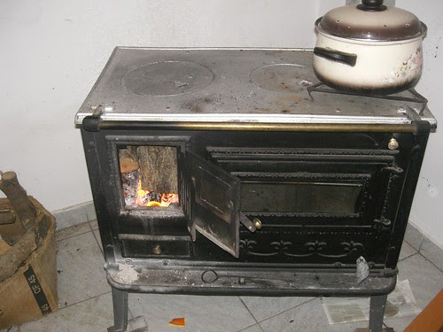 wood fired stove cum oven