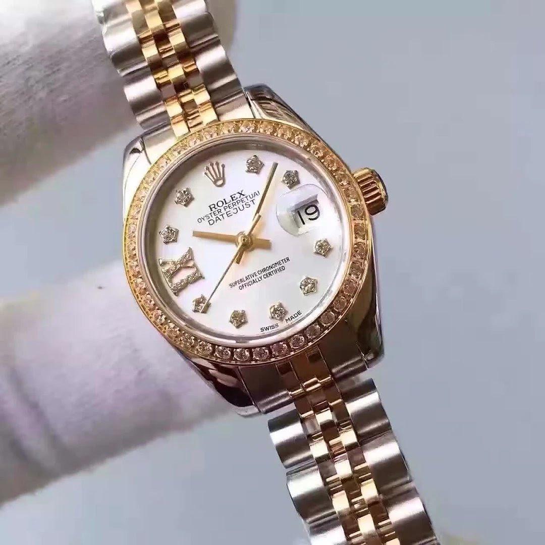 Two Tone 33mm Lady Rolex Datejust Diamond