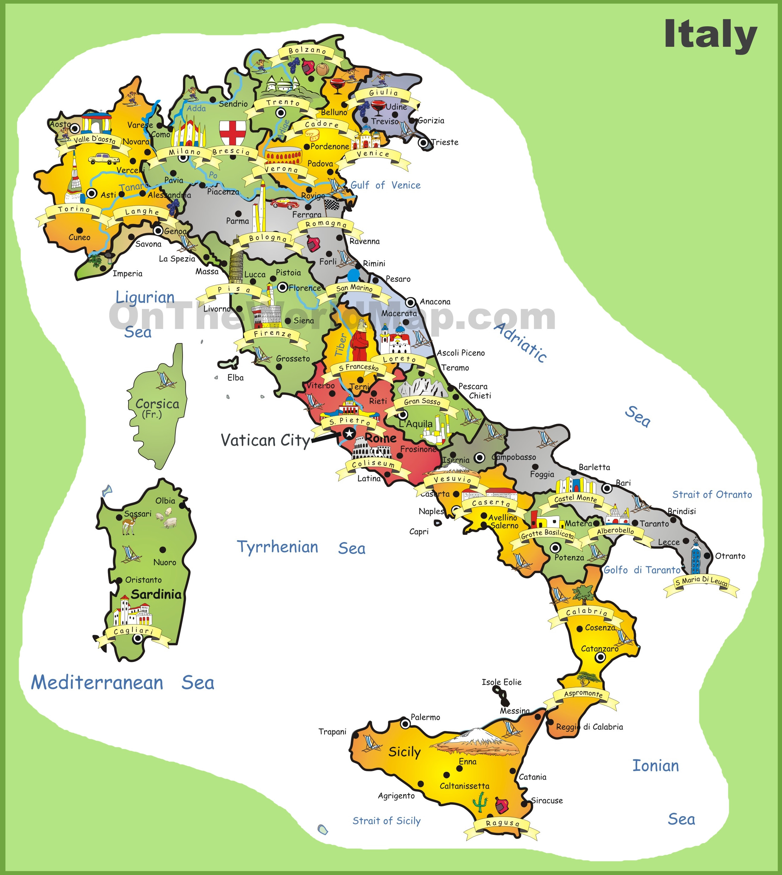 Pdf Map Of Italy.Italy Tourist Attractions Map Attractions Near Me
