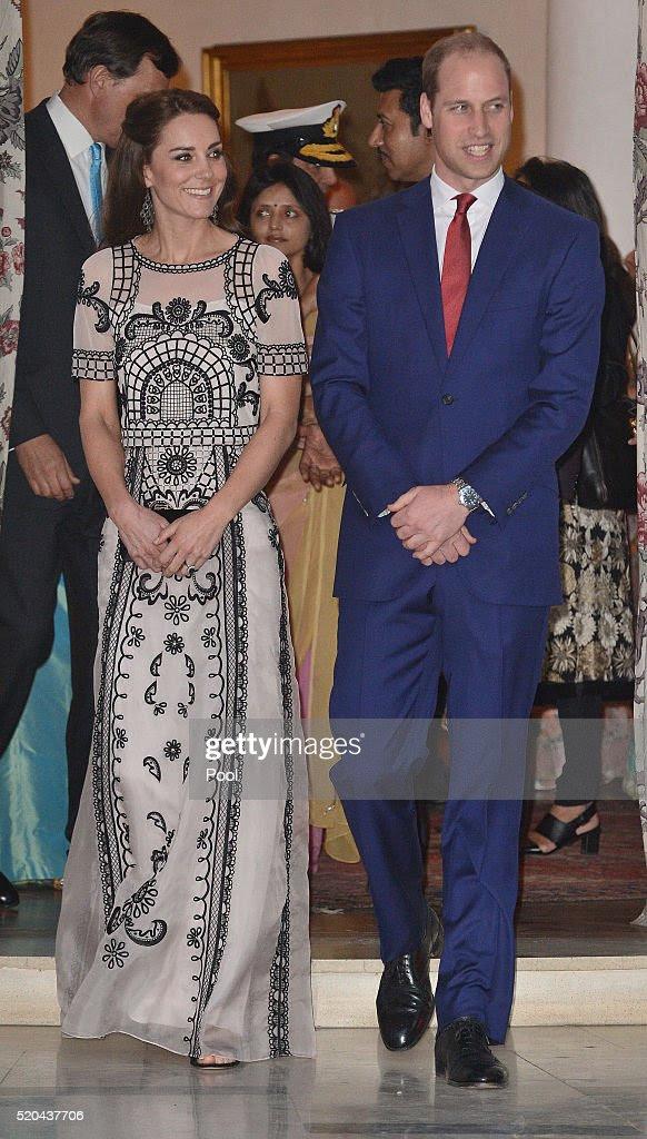 Katarzyna, księżna Cambridge i książę William, książę Cambridge uczestniczyć garden party świętuje 90. urodziny Królowej w dniu 11 kwietnia 2016 roku w New Delhi, Indie.