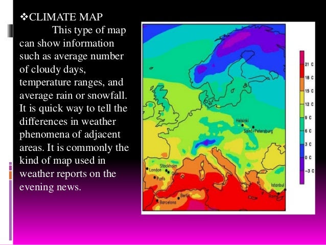 Types Of Maps And Other Interpretation