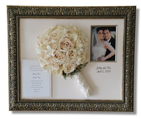 Wedding picture frame ideas ? even the dress can be framed