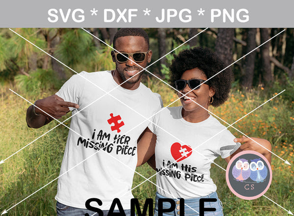 Download Im His Her Missing Piece Valentine Puzzle Heart Couple Digital Do Createdsurprises