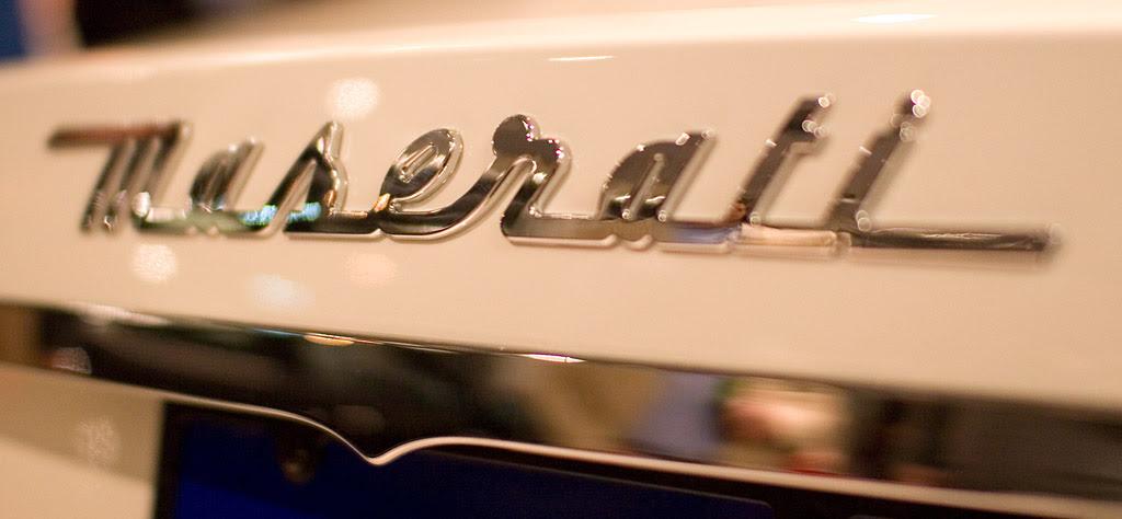 Maserati GranTurismo trunk badge