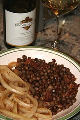 peas and wine