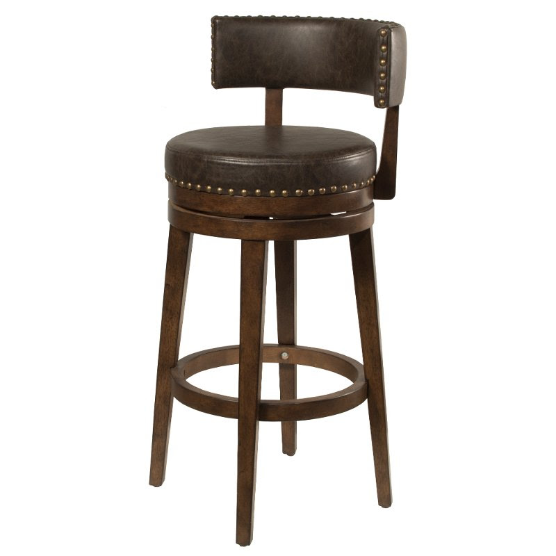 Walnut Brown 26 Inch Swivel Counter Height Stool Lawton Rc Willey Furniture Store