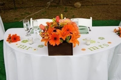 Mr. and Mrs. Sweetheart table letters for a wedding- Custom colors