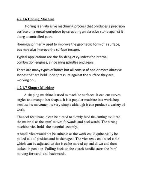 Gulshan Sharma/HMT, Ajmer Training Report