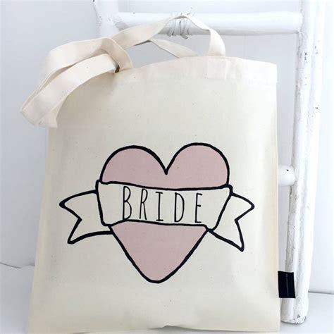 'bride' wedding bag by kelly connor designs