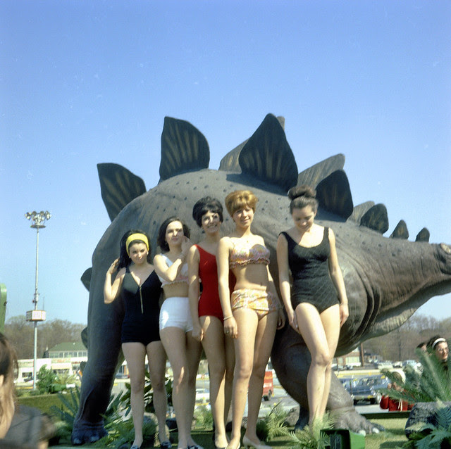 Found Photo - The Sinclair Dinogirls