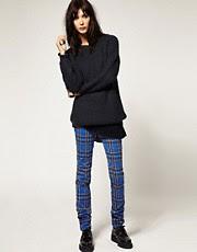 Tripp NYC Tartan Skinny Trousers