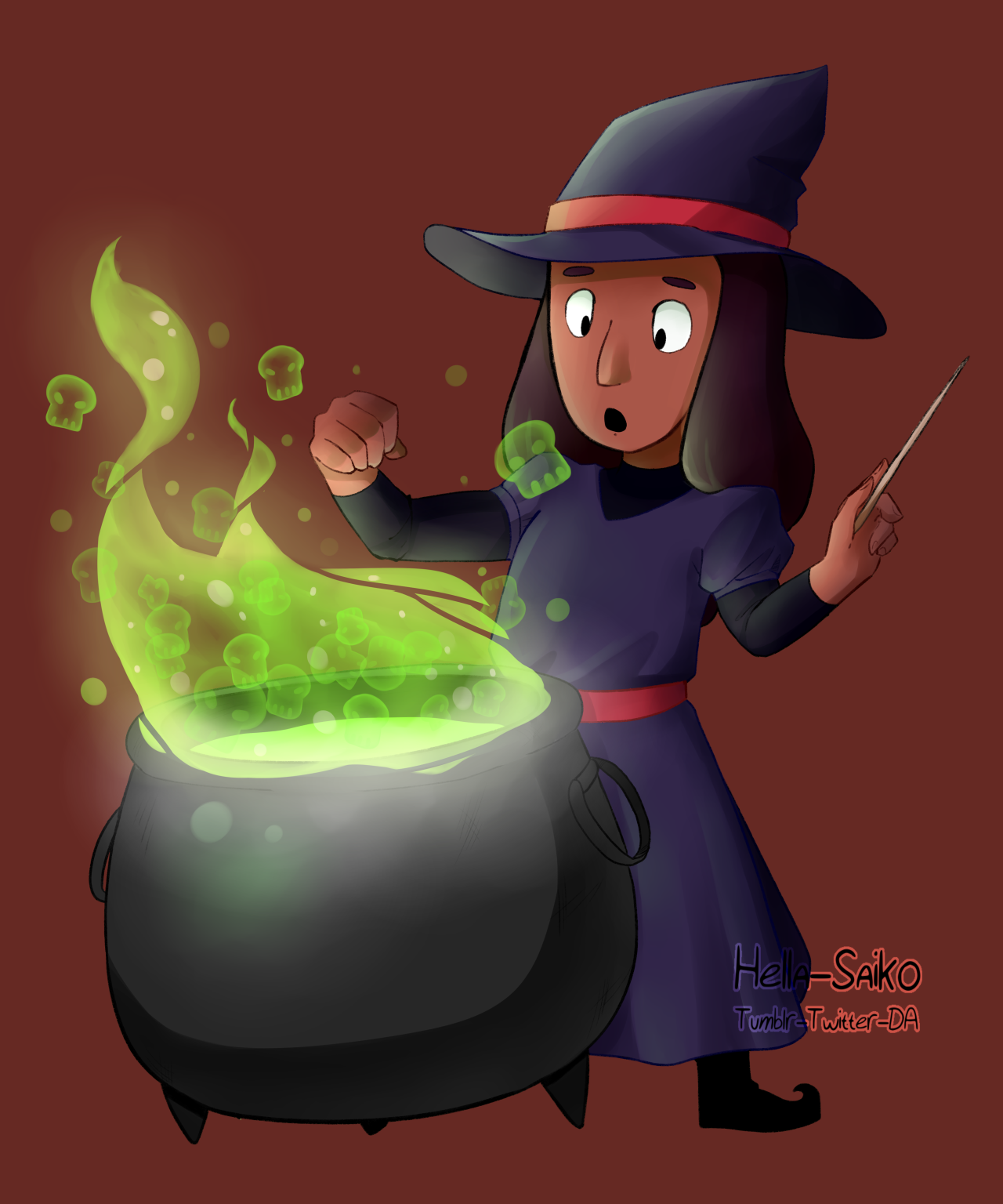 Witch!Connie, for my set of Halloween prints (Happy September!) Commission me!    Buy this on Redbubble    Society6