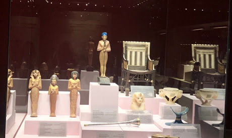 Tutankhamun              display in Hurghada Museum