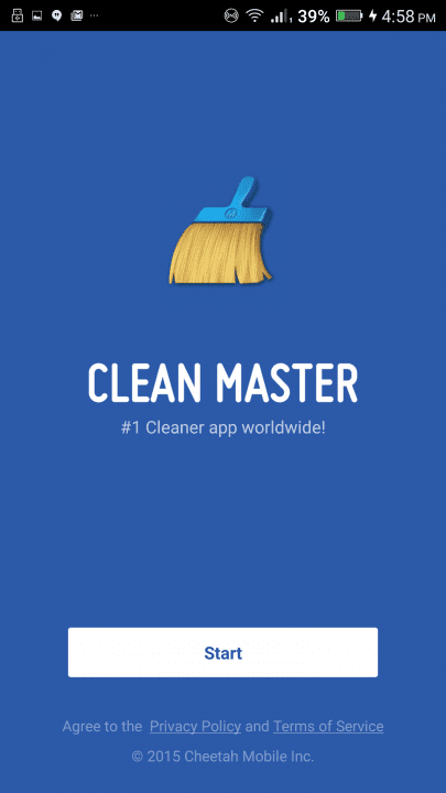 how to use clean master app guide screen start