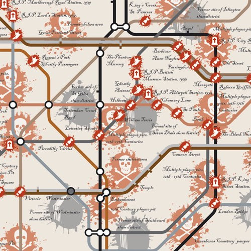 Slightly Disturbing Tube Map by Public Grief Junkie