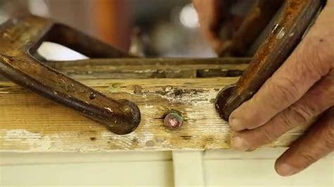 tighten rivets   wooden boat remora