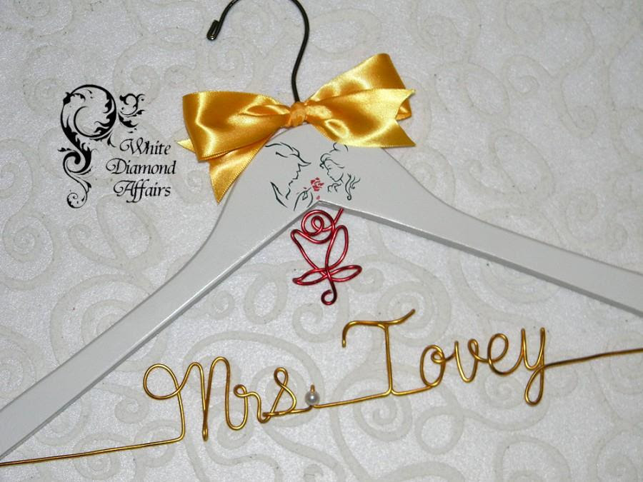 Beauty The Beast Themed Wedding Hanger Disney Princess Wedding