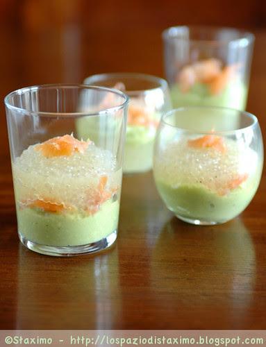 Avocado and White Caviar Glasses