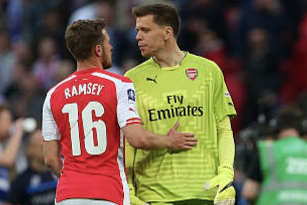 c1a51278720 Szczesny  I ll take care of Rambo in Turin. Wojciech Szczesny has promised  to take care of Aaron Ramsey when he comes to Juventus ...
