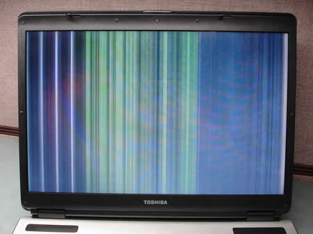 Bad image on laptop LCD screen