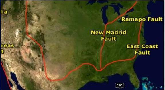 East Coast Of America Fault Line Geology