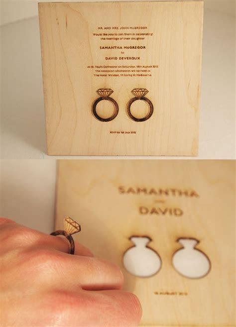 Unique Wedding Invite Ideas   Wood invitation, Laser cut