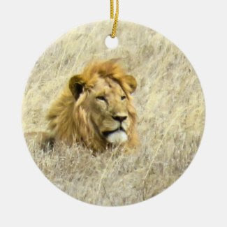 African Lion Christmas Tree Ornament