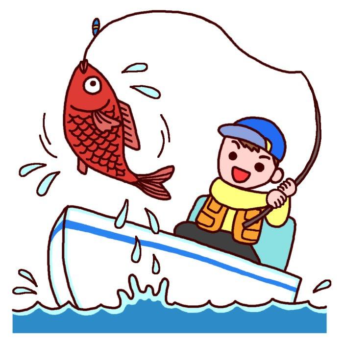 夏3釣り潮干狩り無料イラスト夏の季節行事のイラスト素材