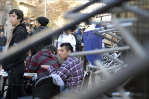 La protesta empezó la semana pasada y se fue agravando con el correr de los días, hasta llegar hoy a los 37 colegios tomados.EFE