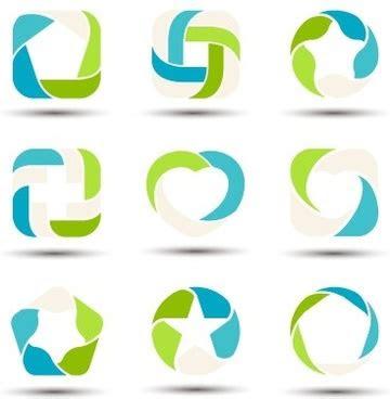 vector logo shapes  vector