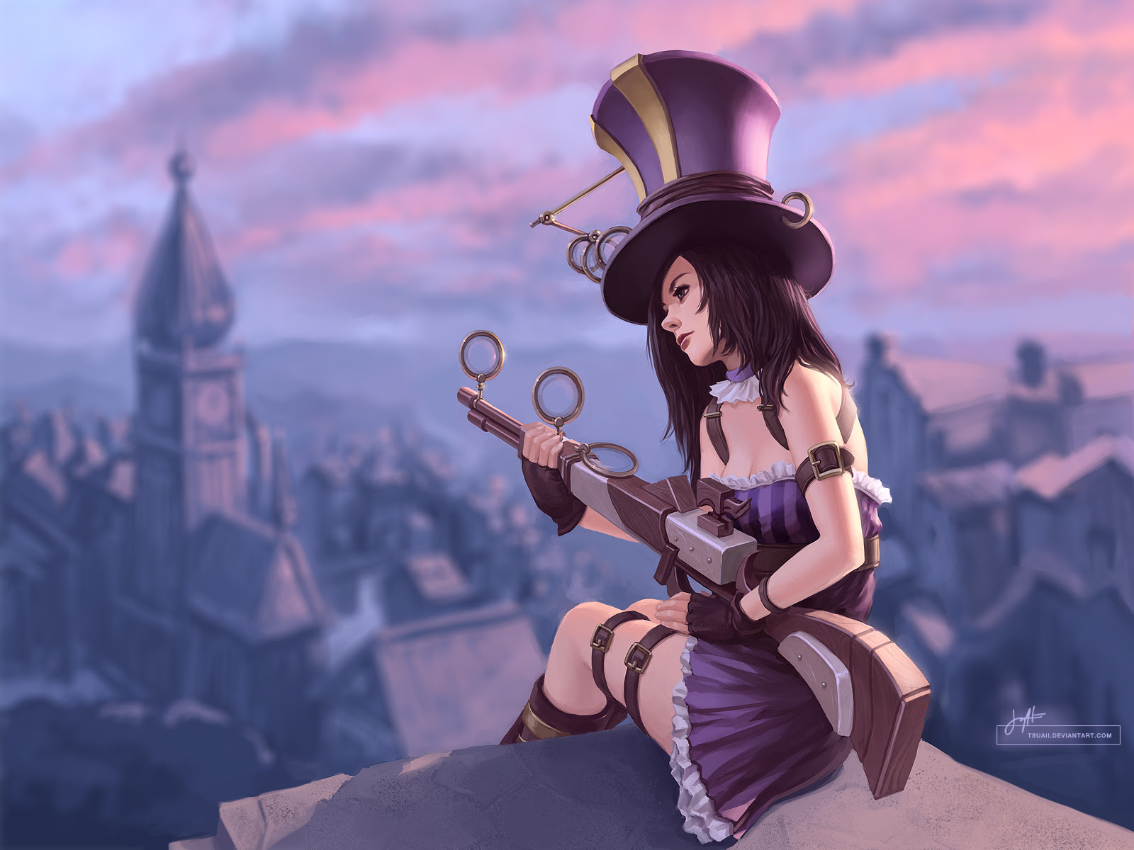 Caitlyn Wallpaper By Tsuaii League Of Legends Wallpapers