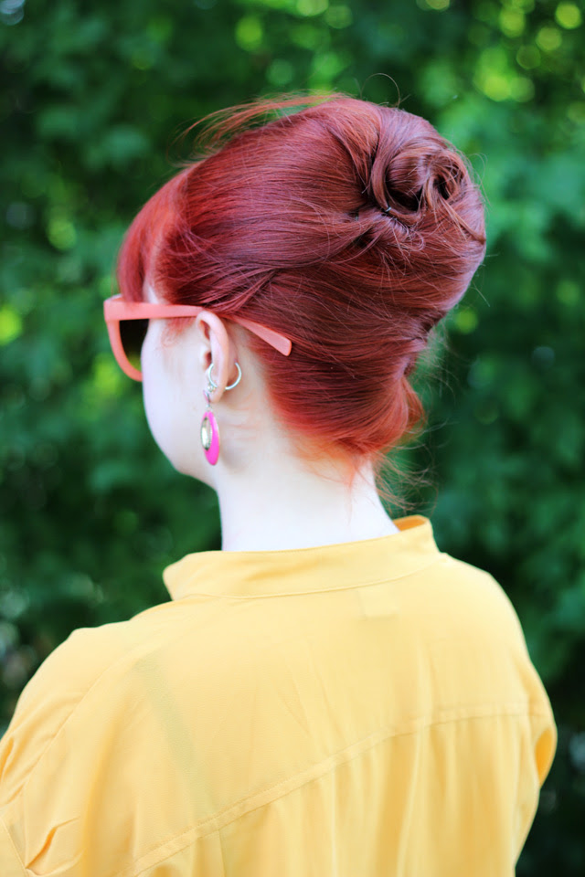 Swirled Back of a Bouffant