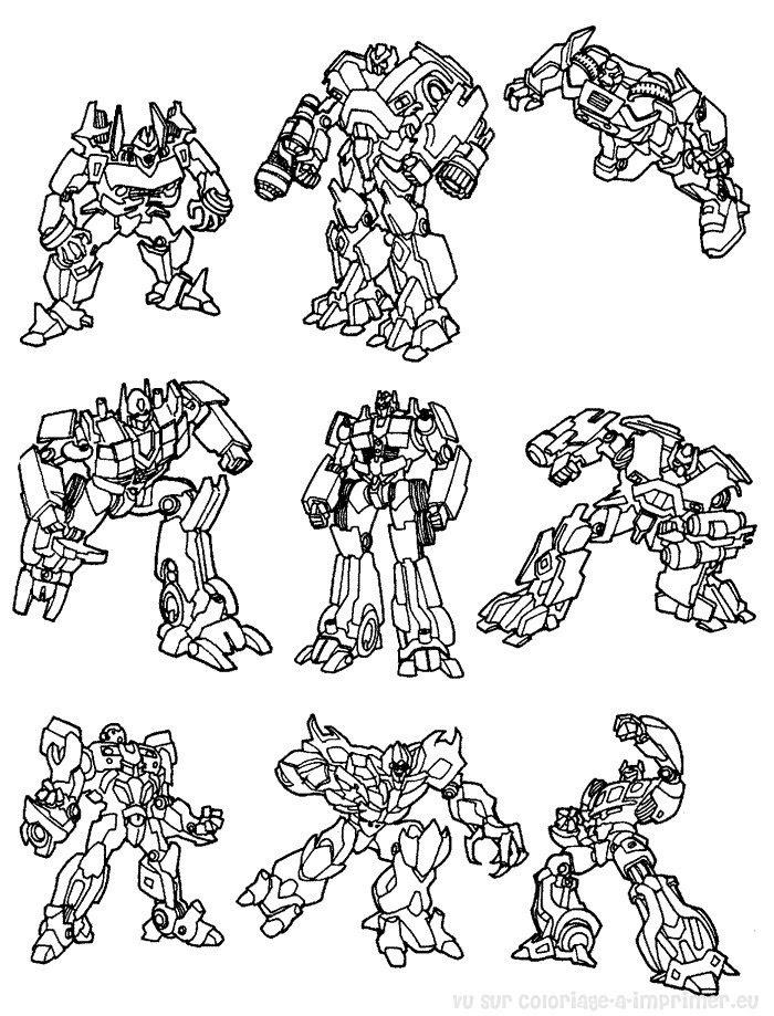 Coloriage à Imprimer Coloriage Transformers 018