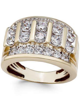 Men's Diamond Elevated Cluster Ring (3 ct. t.w.) in 10k