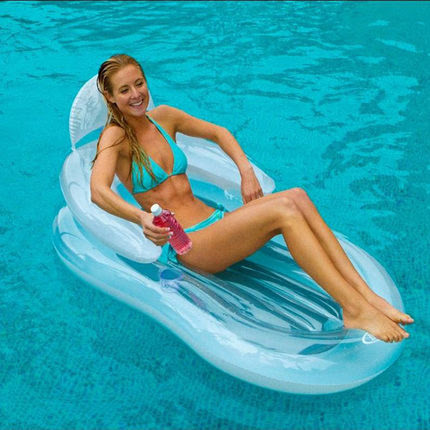 Free Express INTEX 58857 Pool Floating Chair Air Matress Inflatable Floating Bed Water for Holidays Sport