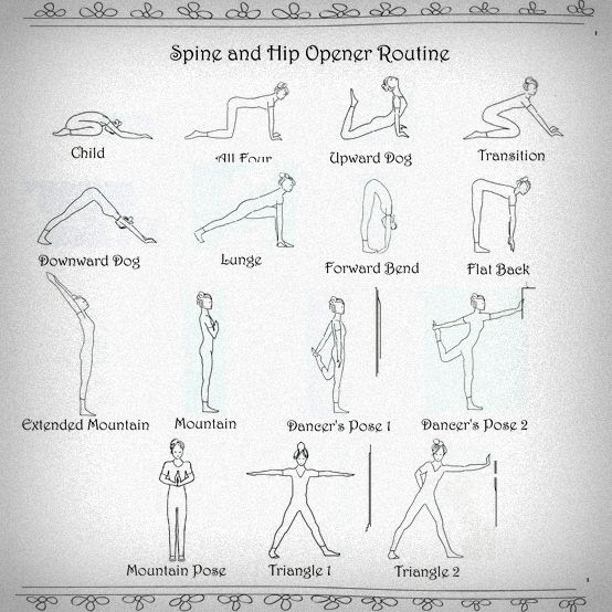 Spine and Hip Opener from Wall Yoga