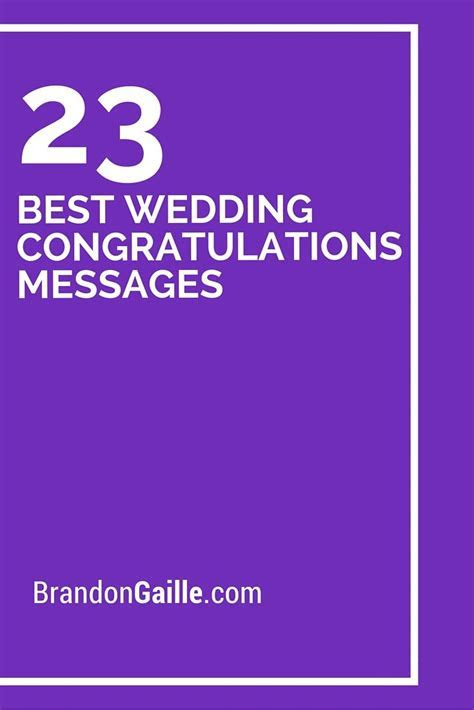 25 Best Wedding Congratulations Messages   good to know