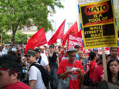 Anti-Imperialist contingent at the anti-NATO march through downtown Chicago on May 20, 2012. Thousands protested in defiance of government repression. (Photo: Abayomi Azikiwe) by Pan-African News Wire File Photos