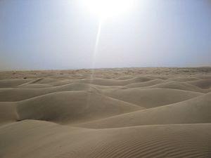 Sun over sahara desert