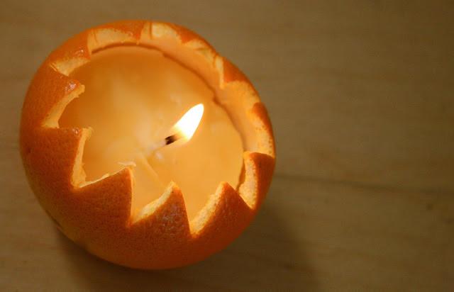 how to make decorative orange candles tutorial