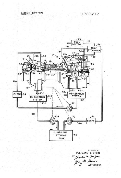 Patent US3722212 - Gas turbine engine lubrication system