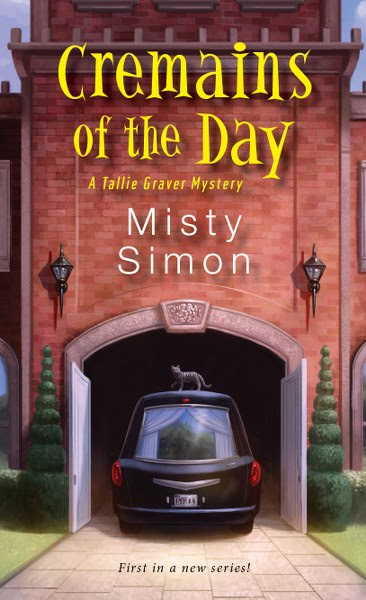 Book Cover for cozy mystery Cremains of the Day from the Tallie Graver mystery series by Misty Simon.