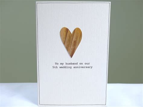 5th Anniversary Card   personalised wood anniversary card