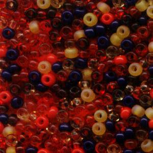 cfxfruitpunch ColourFX - 11/0 Czech Seedbeads - Fruit Punch