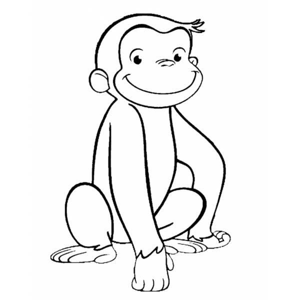 Disegno Di Scimmietta George Da Colorare Per Bambini