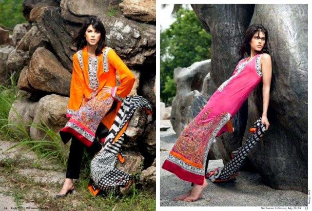 Beautiful-Cute-Girls-Models-Wear-Summer-Eid-Dress-Collection-2013-Lakhani-Silk-Mills-13