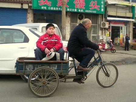 写真:メタボリックシンドローム中国人