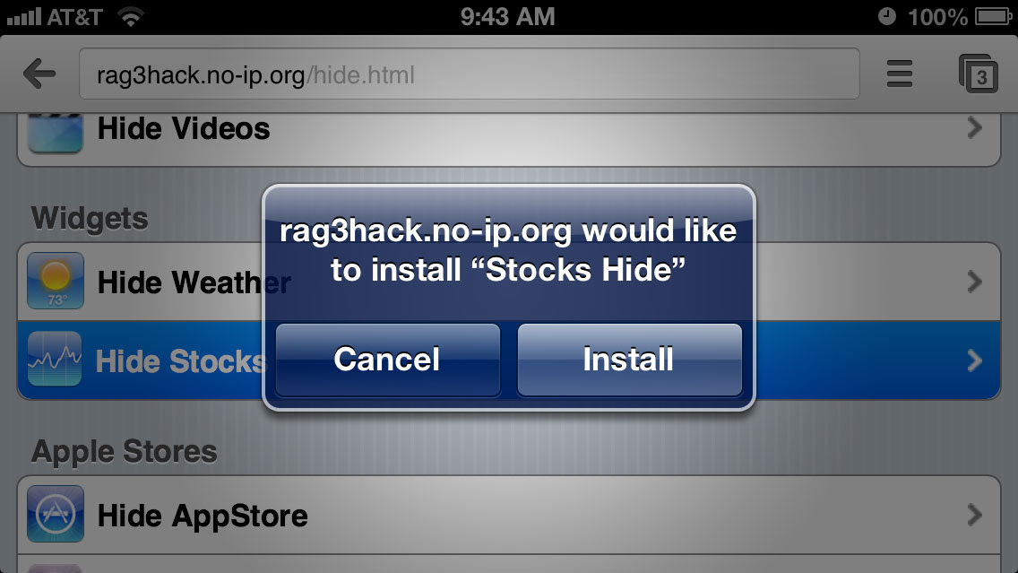 Hide unwanted apps in iOS devices without Jailbreaking