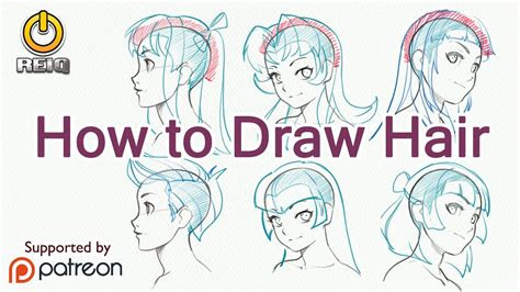 draw anime hair  construction  styles