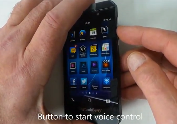 BlackBerry 10's voice control shows off its Germanic speaking skills video